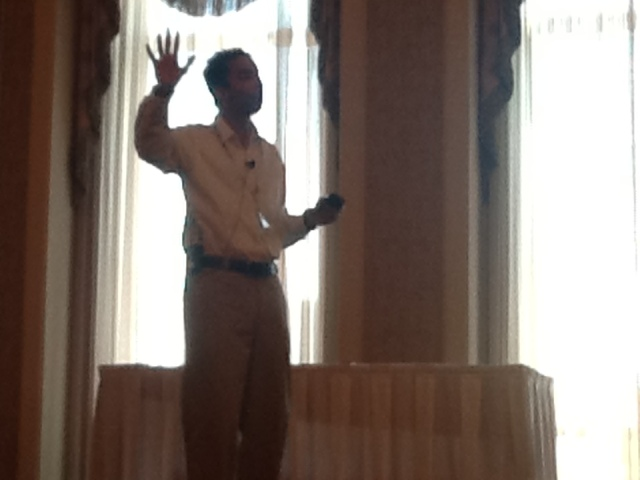 The Hult CIO giving his keynote address